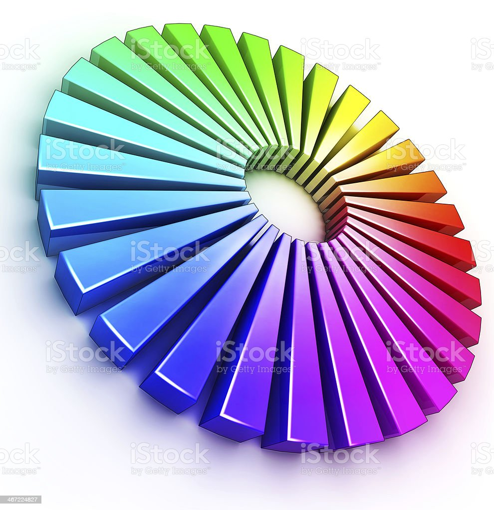 circle of colors royalty-free stock photo