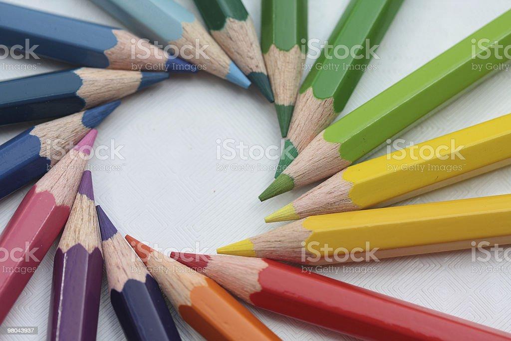 Circle of colors royalty-free stock photo
