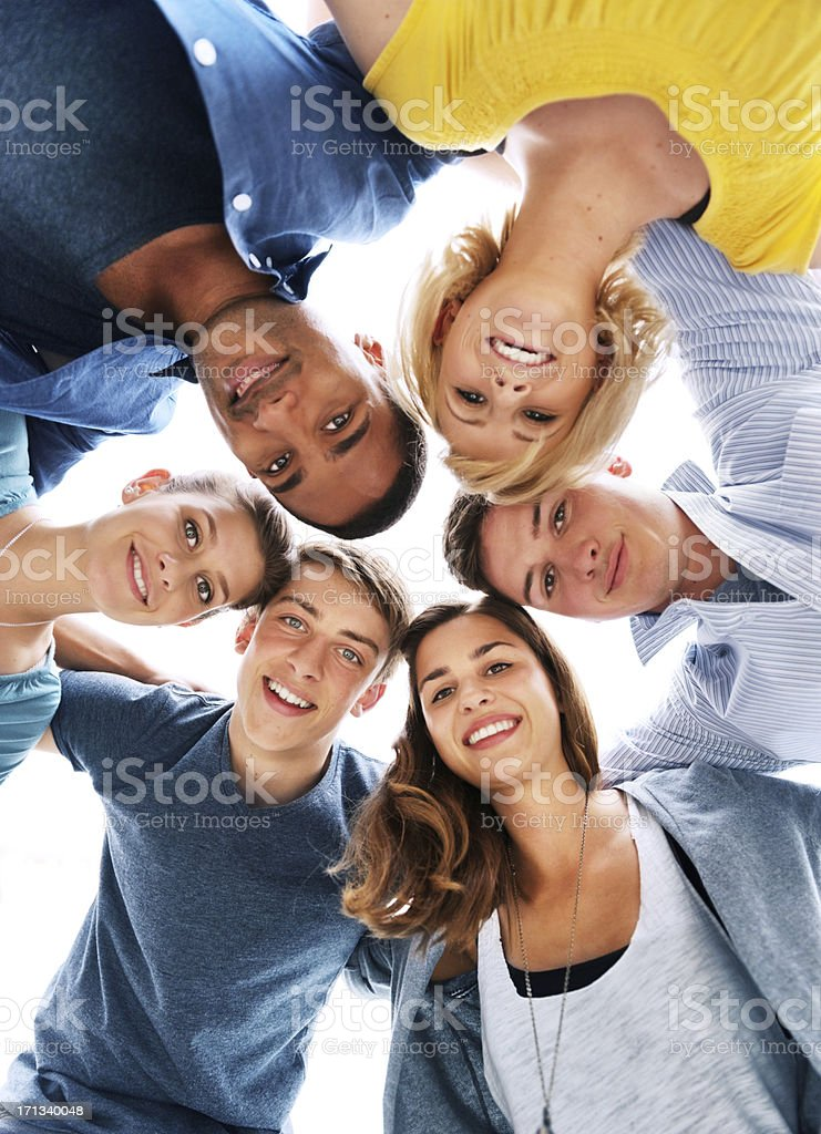 Circle of friends royalty-free stock photo
