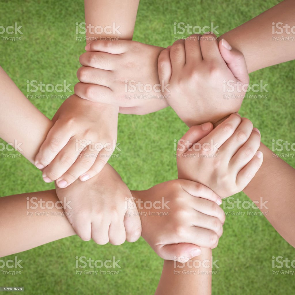 Circle Of Friends Unity Kids Friendship Concept With Isolated