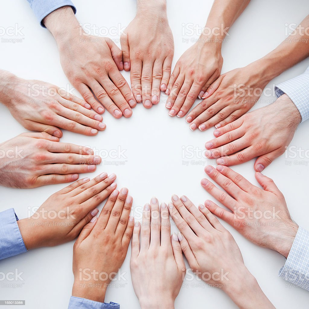 Circle of hands  Agreement Stock Photo