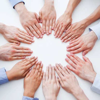 Circle Of Hands Stock Photo - Download Image Now