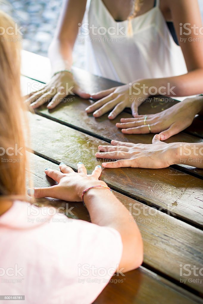 Circle of hands royalty-free stock photo