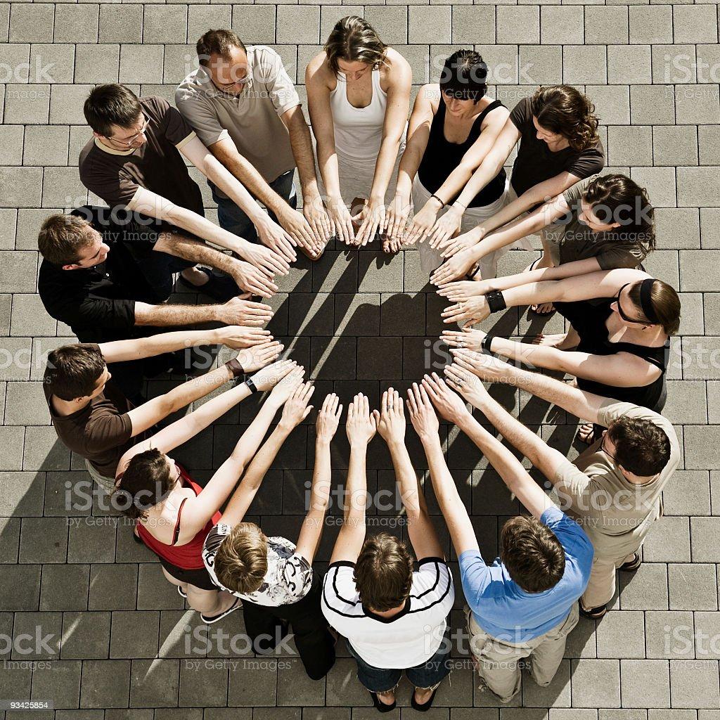 circle of hands royalty-free stock photo