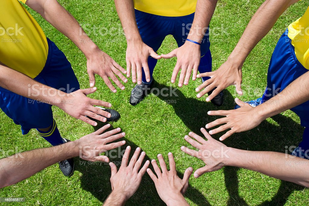 Circle of hands team royalty-free stock photo