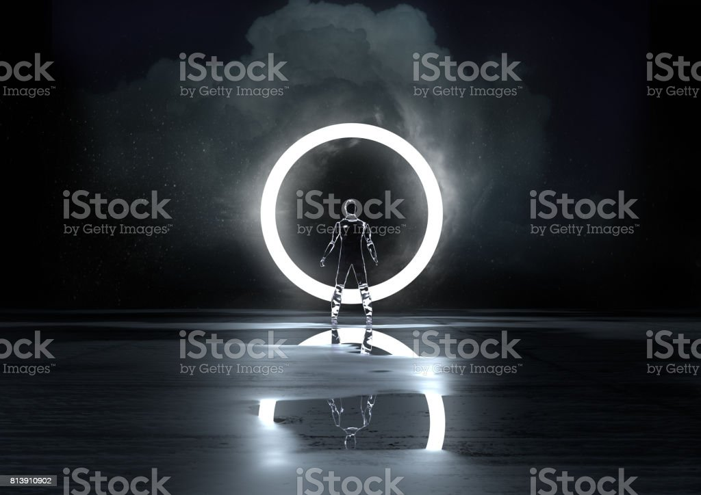 Circle of Light stock photo