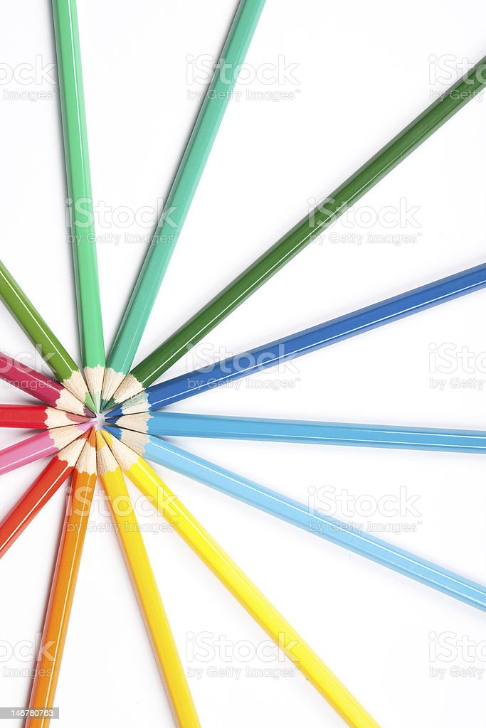 Circle of pencils royalty-free stock photo
