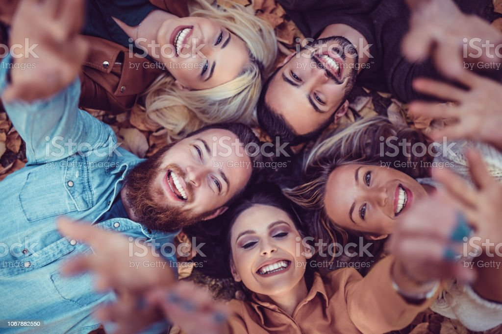 Circle Of Real Friendship stock photo