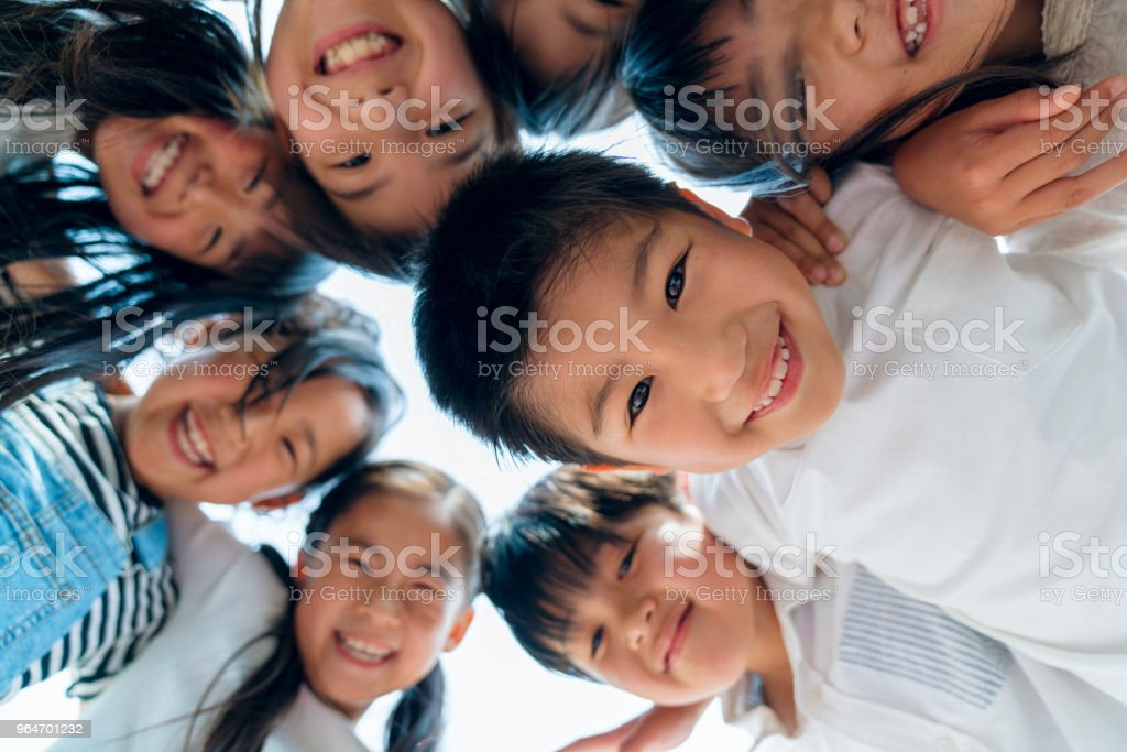 Circle of young friends royalty-free stock photo