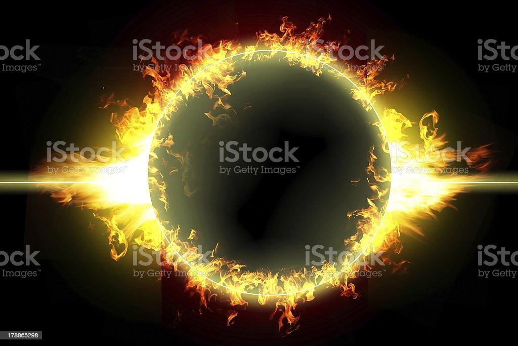 вспышка оставляет круги на фото сохранения импульса