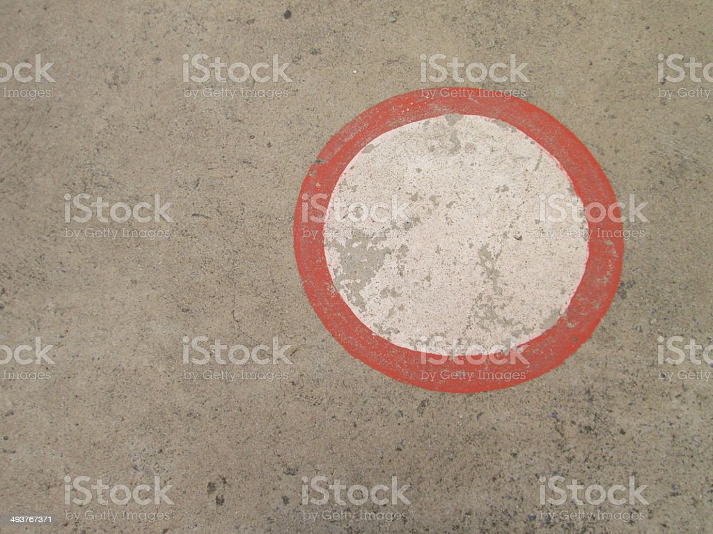 Circle on the basketball court stock photo