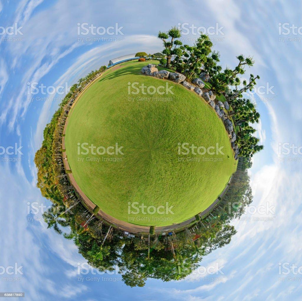 Circle Panorama of public park stock photo