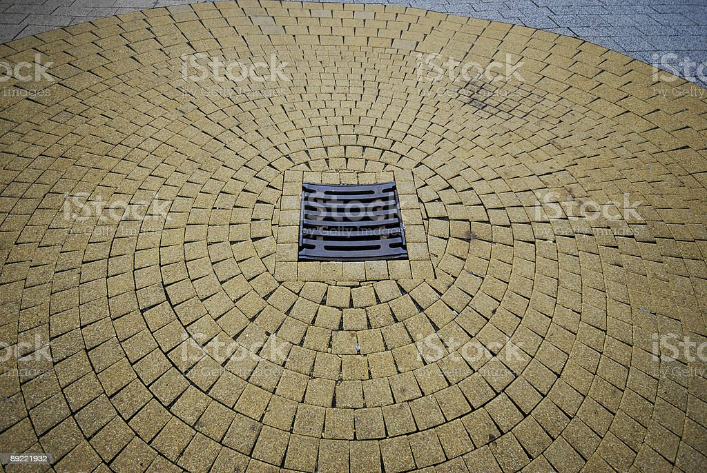 Circle Pavement royalty-free stock photo