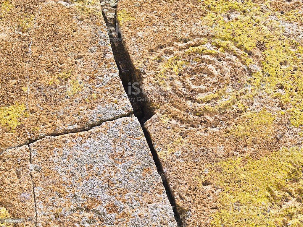 Circle petroglyphs royalty-free stock photo