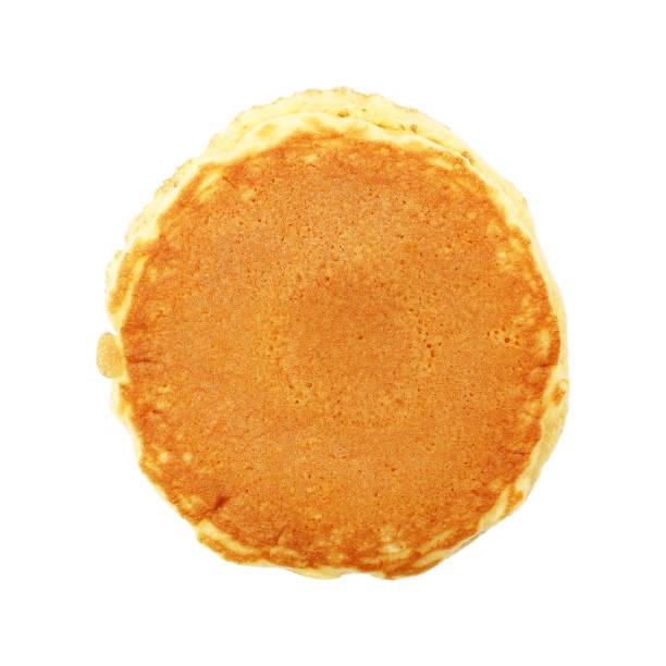 circle plain pancake isolated on white - pancake foto e immagini stock