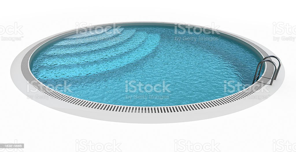 Circle Pool royalty-free stock photo