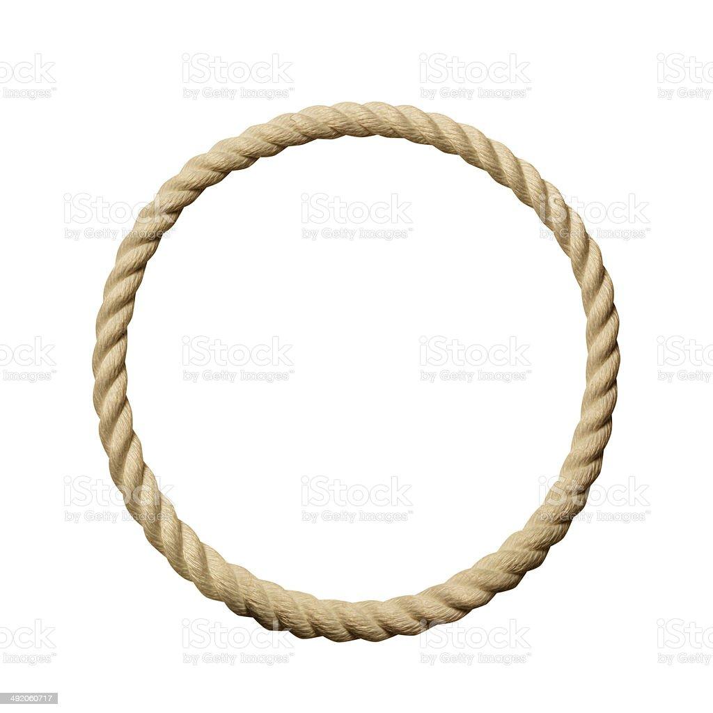 Circle rope frame stock photo