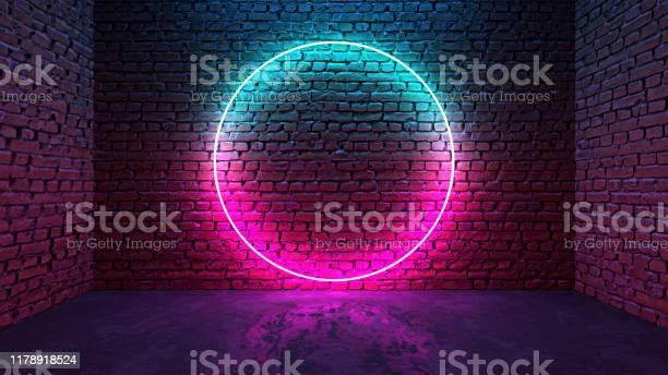 Circle shaped glowing neon frame on brick wall in dark room picture id1178918524?b=1&k=6&m=1178918524&s=612x612&h=quitstgyry6mfk1db84b o1anei5ysotf8vw4yrmrt8=