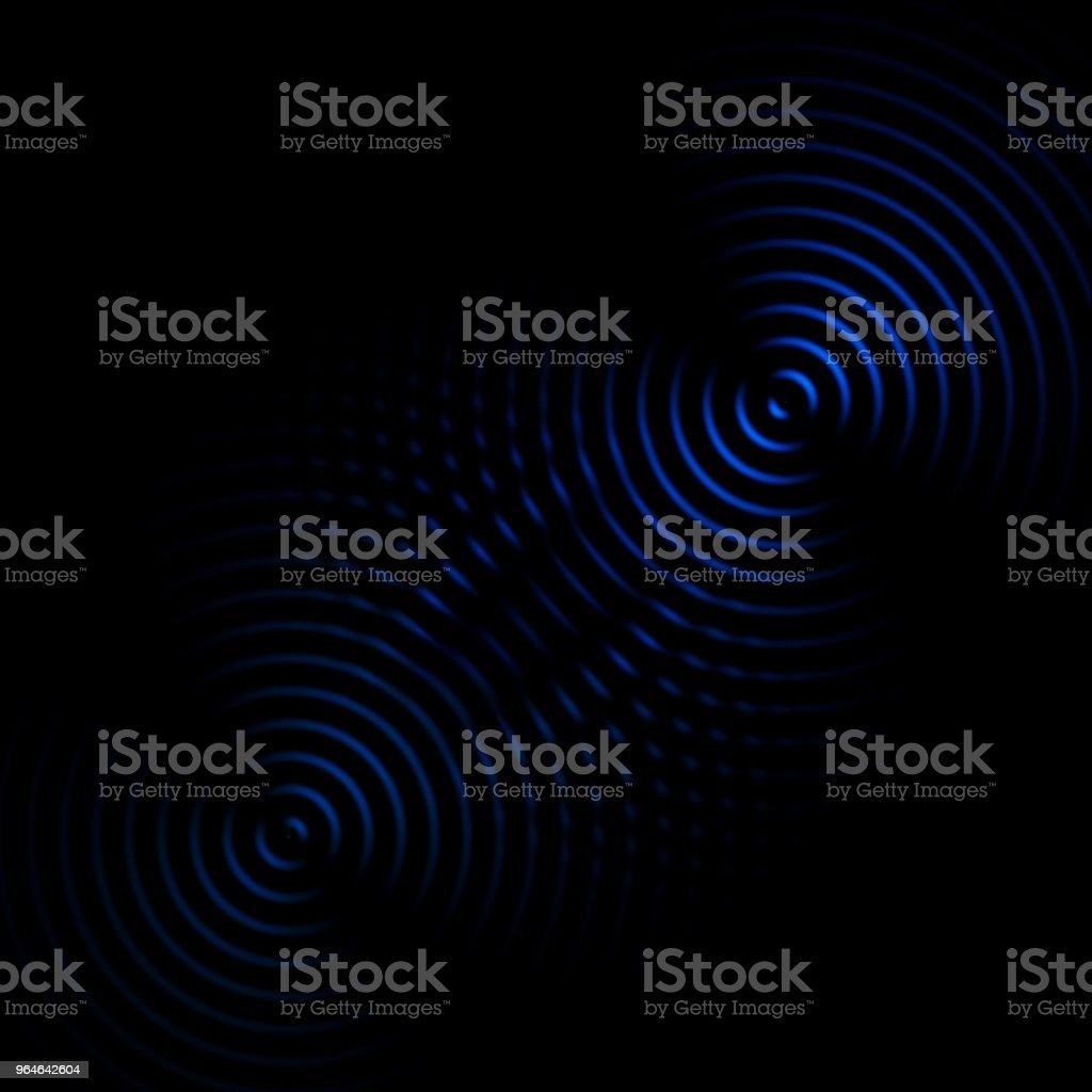 Circle sound waves oscillating dark blue, abstract background royalty-free stock photo