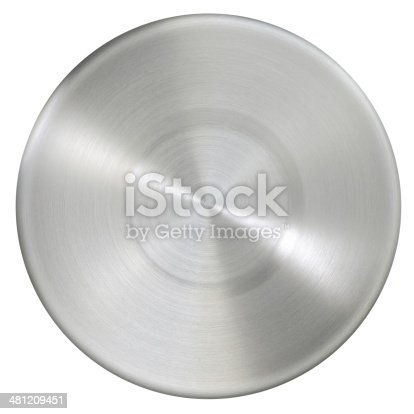 istock Circle stainless steel surface 481209451