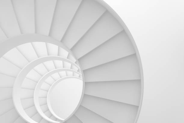 Circle Stairs, Ladder of Success Concept Stairs, success, steps, architecture, circle, round, ladder of success concept single step stock pictures, royalty-free photos & images