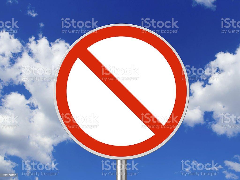 Circle traffic sign royalty-free stock photo
