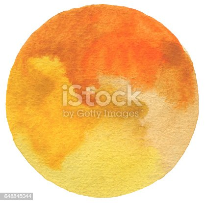 649796262 istock photo Circle watercolor painted background. Paper texture. 648845044