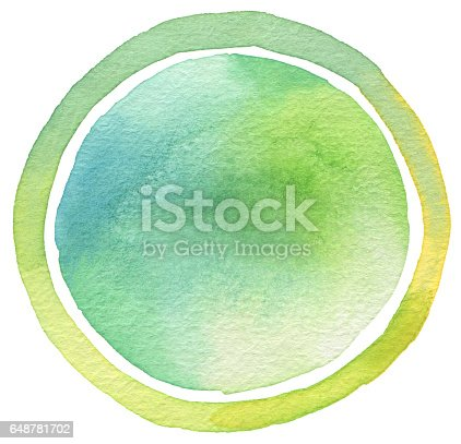 649796262 istock photo Circle watercolor painted background. Texture paper. 648781702