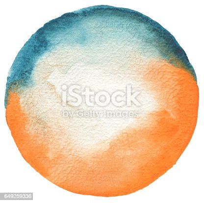 649796262 istock photo Circle watercolor painted background. Texture paper. 649259336
