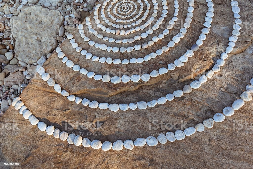 Circles of stones royalty-free stock photo