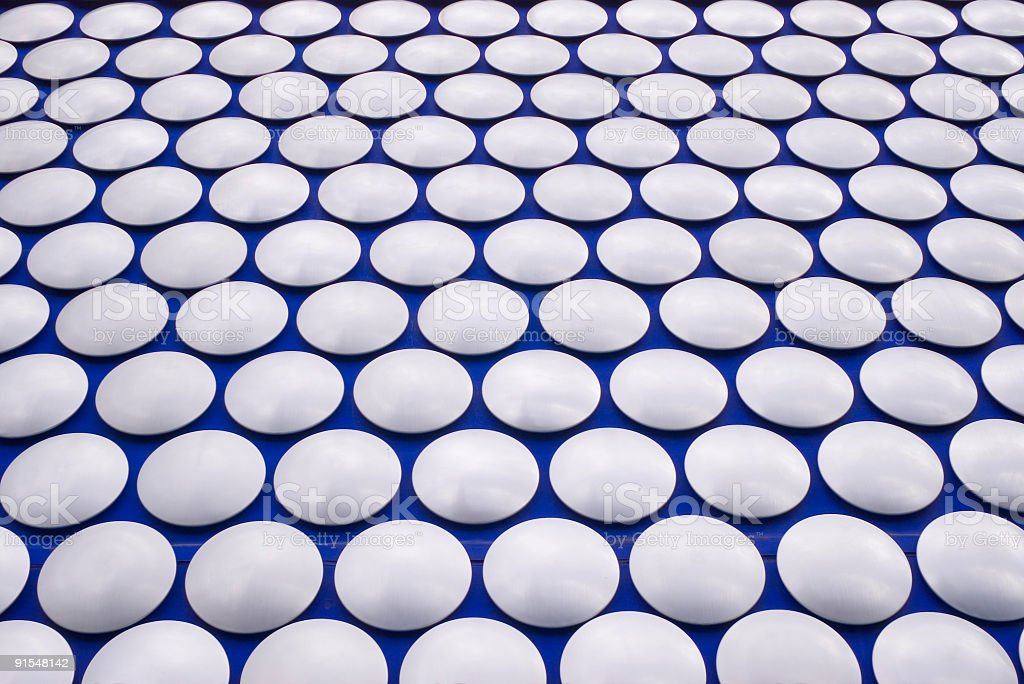 Circles on blue background royalty-free stock photo
