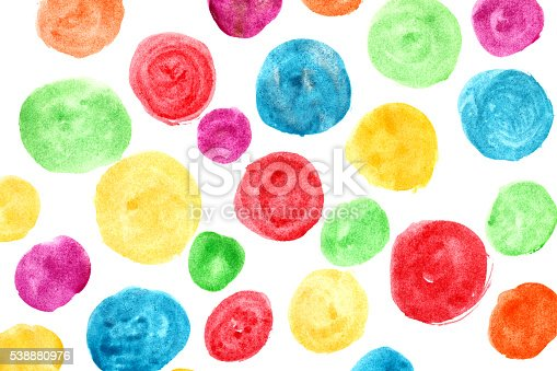 istock Circles painted with watercolors 538880976