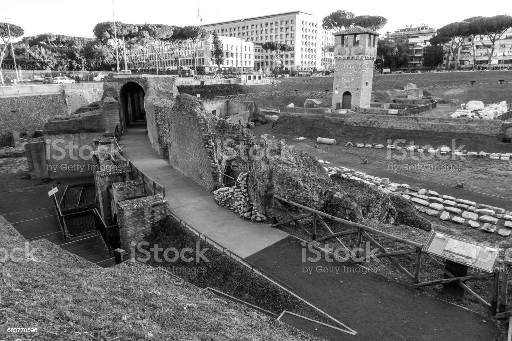 Circo massimo circus maximus rome roma ruins stock photo