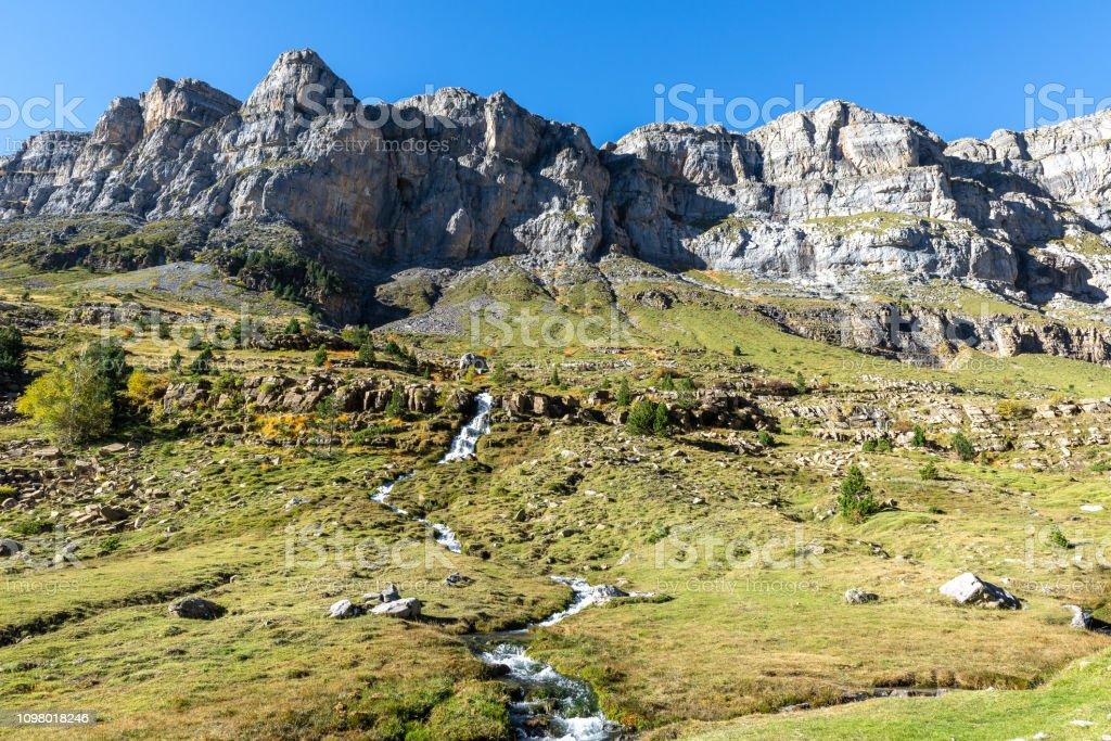 Circo of Soaso, Ordesa and Monte Perdido National Park, Huesca, Spain stock photo