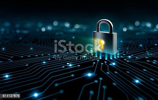 istock Circuit and Lock 614137876