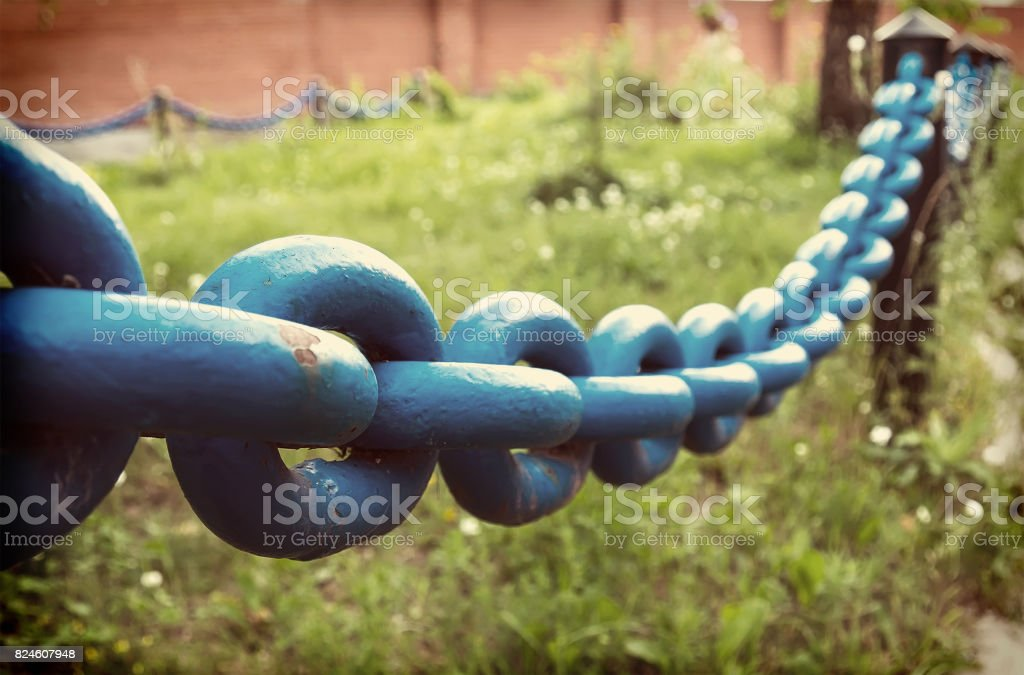 circuit as the fence in the Park stock photo