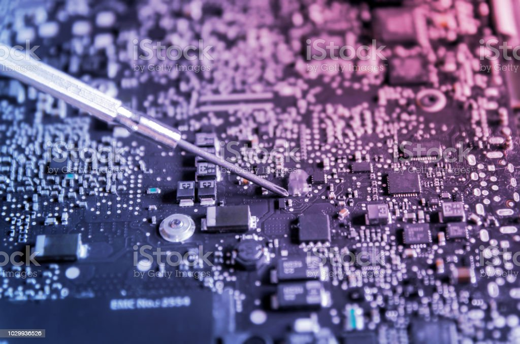 Circuit Board And Electronic Computer Hardware Repair Of