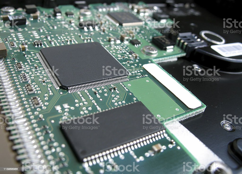 circuit board angled royalty-free stock photo