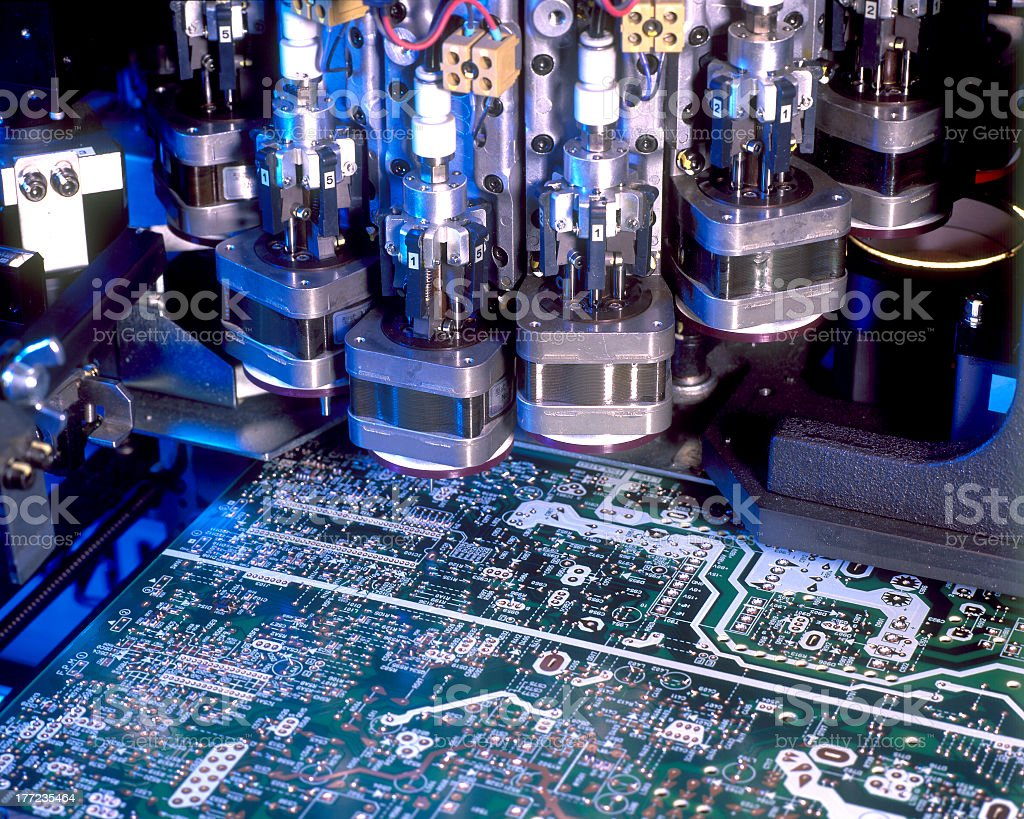 Circuit Board Assembly stock photo