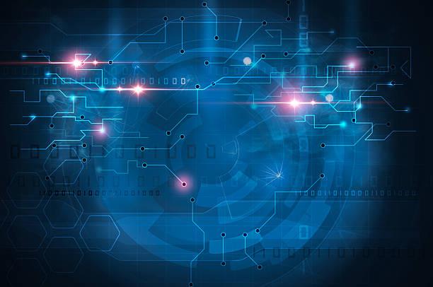 circuit board blue background – Foto