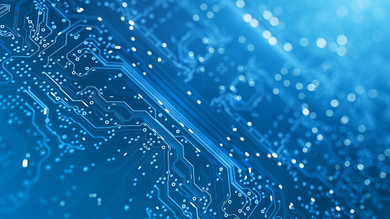 1146014337 istock photo Circuit Board - Blue - Computer, Data, Technology, Artificial Intelligence 1226985345