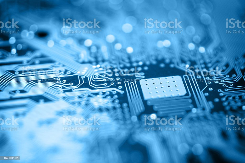 Circuit Board - Blue royalty-free stock photo