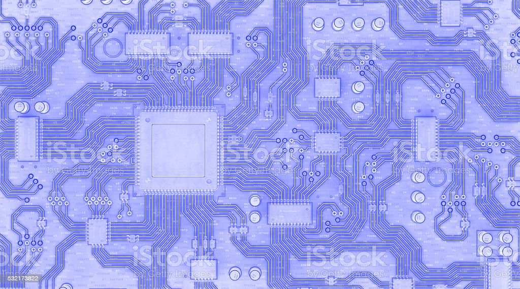 Circuit Board Blueprint stock photo
