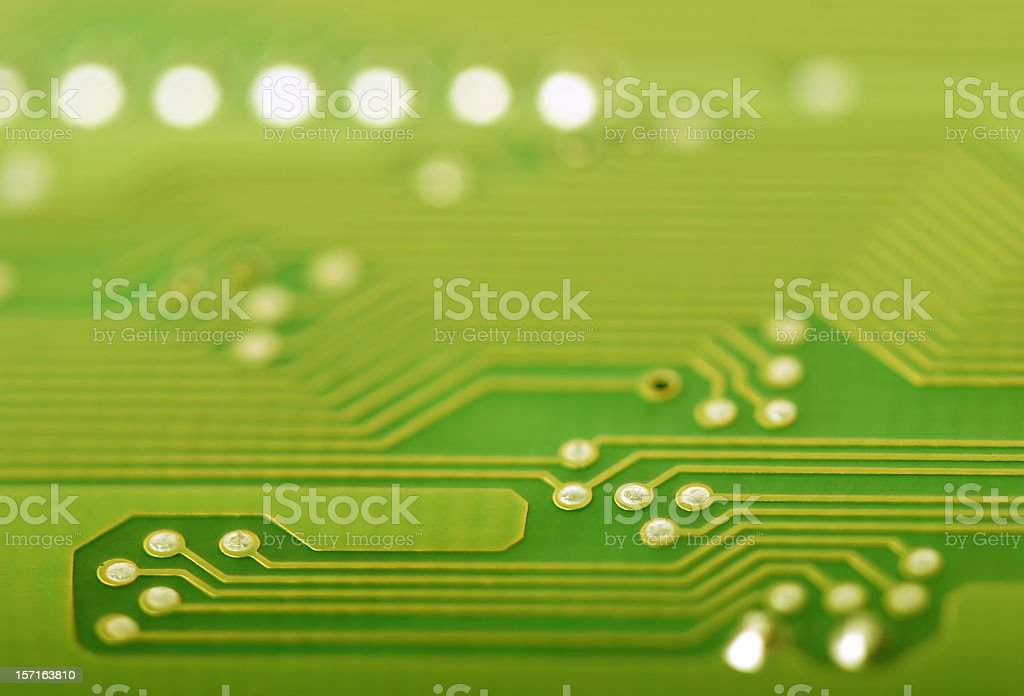 Circuit Board close-up royalty-free stock photo
