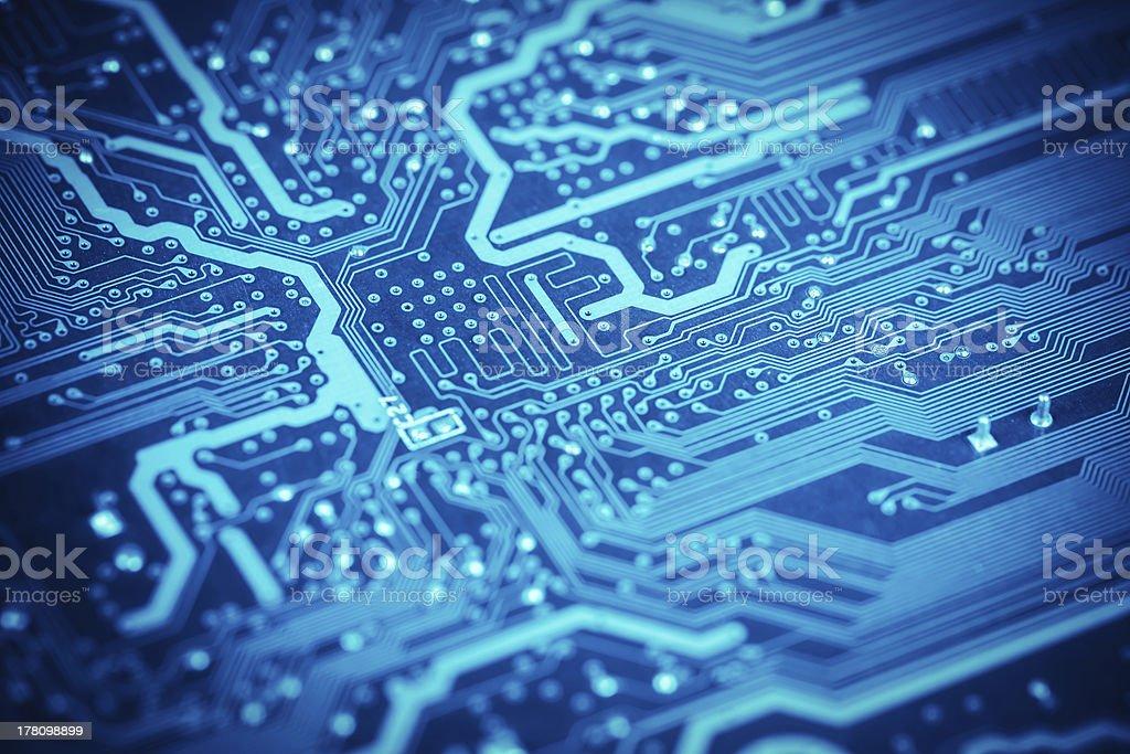 circuit board closeup stock photo