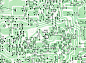 Circuit board drawing background textured