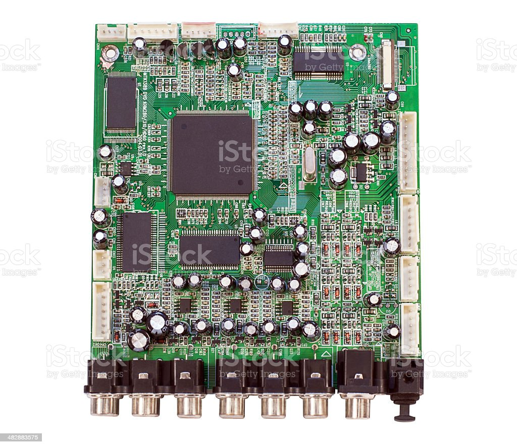 Circuit Board Electronic Device Stock Photo More Pictures Of With Components Royalty Free Photos Image Blackboard Cable Computer Electrical Component Equipment