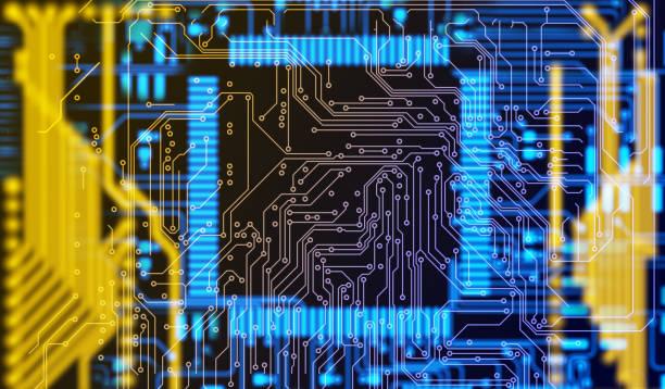 Fond de carte de circuit imprimé technologie futuriste - Photo