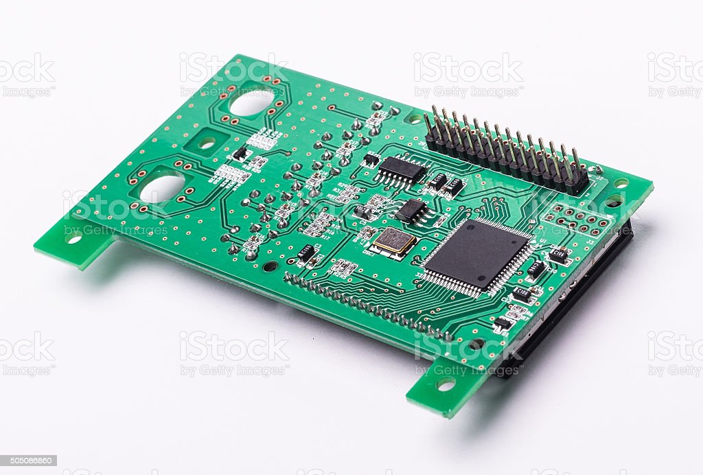 Circuit board isolated stock photo