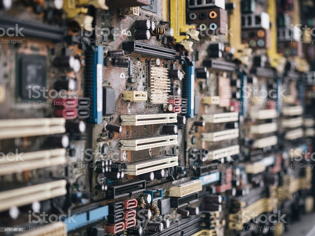 Circuit Board Pattern With Dirty And Old Condition Close Up Stock Electronics Royalty Free Photo Image